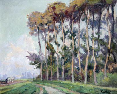 ANTOINE CALBET (1860-1944) Paysage Huile...