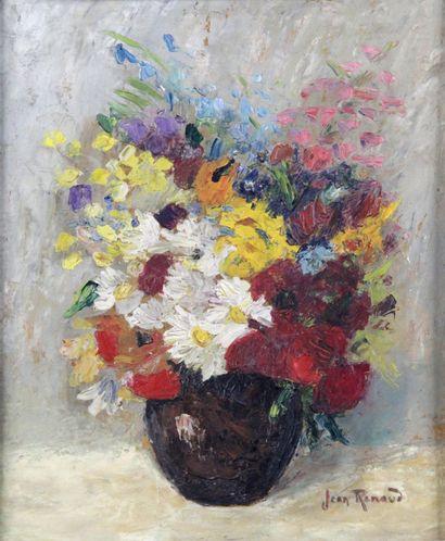 JEAN RENAUD (XXÈME SIÈCLE) Bouquet de fleurs...