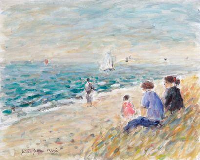 JEAN-JACQUES RENE (1943-) Brume sur la mer...