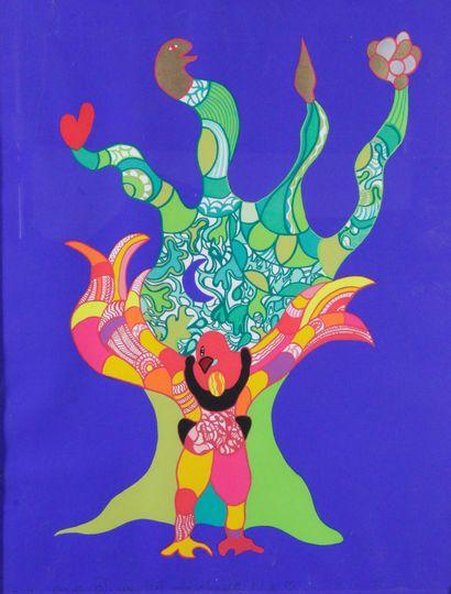 NIKI DE SAINT-PHALLE (1930-2002) L'oiseau...