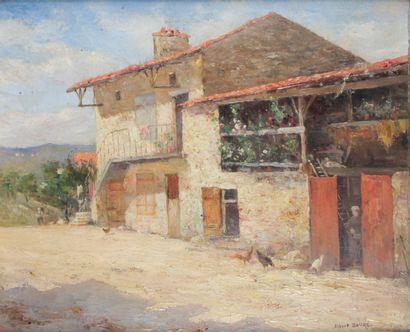 ALBERT BAURÉ (1867-1930) Cour de ferme à...