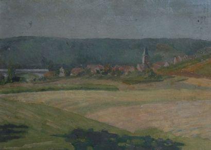 ÉMILE BERNARD (1868-1941) Vue du clocher...