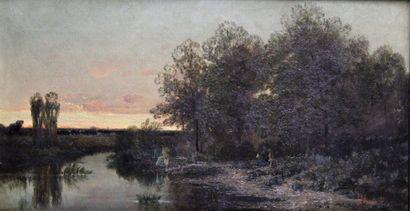EUGÈNE-VICTOR DE FLOGNY (1825-1879) Pêcheur,...