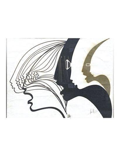 RAYMOND MORETTI (1931-2005) Profils Lithographie...