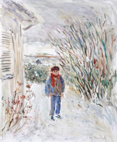 JEAN-JACQUES RENE (1943-) Neige dans le jardin...