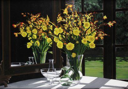 JORDI VALESCRIU (1928-) Vase de fleurs au...