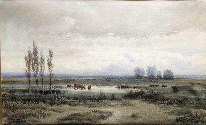 JEAN-HENRI CHOUPPE (1817-1894) Bergère et...