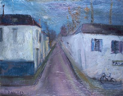 GABRIEL DAUCHOT (1927-2005) Rue de village...