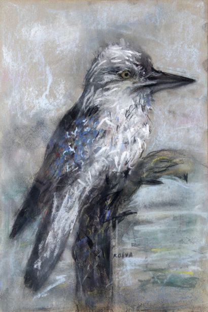 RADKA KOEVA-EHLINGER (1937-) Le martin pêcheur...