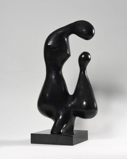XAVIER ALVAREZ (1949-) Attachement Bronze...