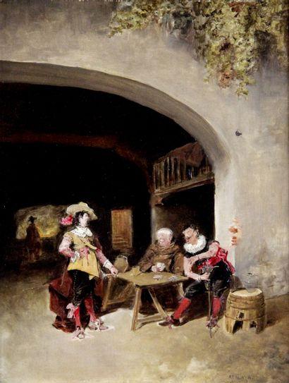 ENRIQUE ATALAYA (1851-1914) Scène de taverne...