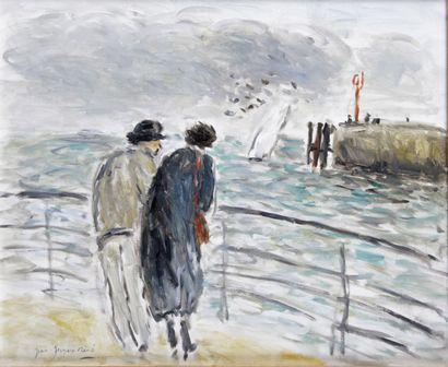 JEAN-JACQUES RENÉ (1943-) Dieppe Huile sur...