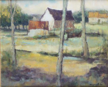 JEAN-CLAUDE QUINETTE (1956-) La ferme, 1990...