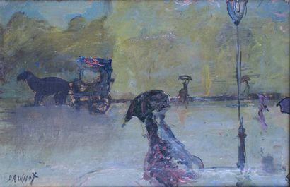 GABRIEL DAUCHOT (1927-2005) Scène de rue...