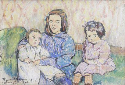PIERRE CHAPUIS (1863-1942) La Famille, 1917...