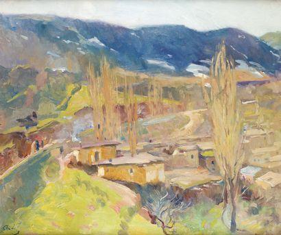ÉLIE ANATOLE PAVIL (1873-1948) Paysage marocain...