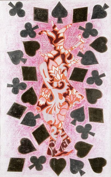 ÉLIANE THIOLLIER (1926-1989) Joker Aquarelle,...