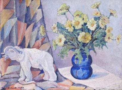 PAUL RICHARD (XXÈME SIÈCLE) Vase de fleurs...
