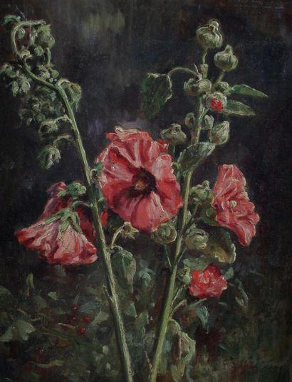 CLOVIS DIDIER (1858-1939) Nature morte aux...