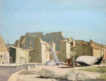 JONATHAN ZUTTER (1928-1998) Le port de Saint...