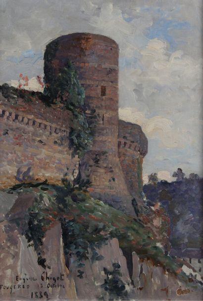 EUGÈNE CHIGOT (1860-1923) Le château de Fougères...
