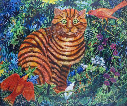 CLAUDINE SURET-CANALE (1946-) Le chat rouge...