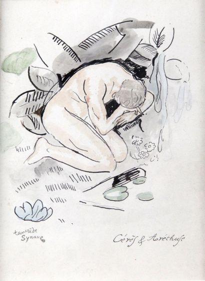 TANCREDE SYNAVE (1860-1936) Cérès et Arethuse...