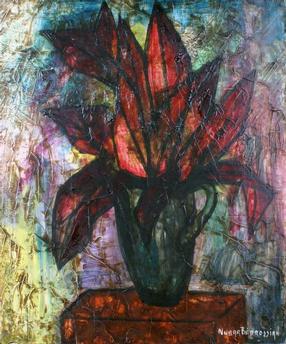 NUBAR BEDROSSIAN (-1992) La plante rouge,...