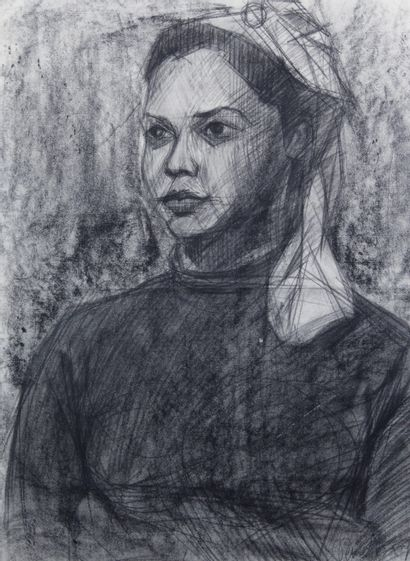 ROBERT VERNET-BONFORT (1934-) Portrait de...
