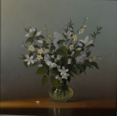 WALTER DUSATTI (1930-) Bouquet de fleurs...