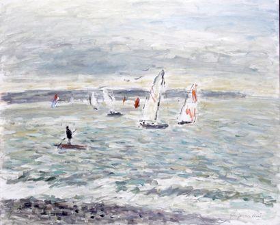 JEAN-JACQUES RENE (1943-) Voiliers à Sainte...