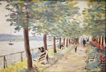 JEAN-JACQUES RENÉ (1943-) La Seine à Duclair...