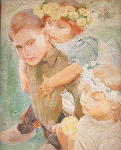 PAUL RINK (1861-1903) Les enfants au printemps...