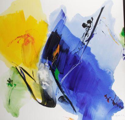 DANIEL AGOSTINI (1947-) Composition Huile...