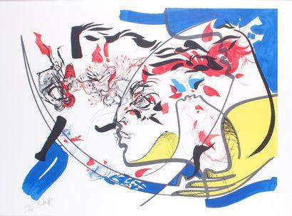 RAYMOND MORETTI (1931-2005) Les cinq sens...
