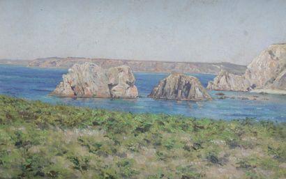 CLOVIS DIDIER (1858-1939) Crique rocheuse...