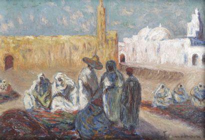 GUSTAVE FLASSCHOEN (1868-1940) Mosquée de...