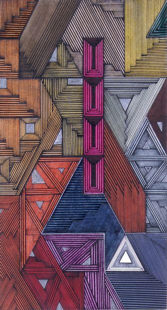 SERGE COURTE-PARIS (1940-) Composition Encre...