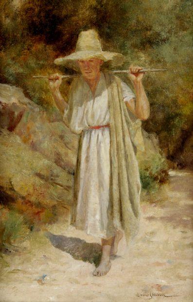 JOHN LOUIS SCHONBORN (1852-1931) Promeneur...