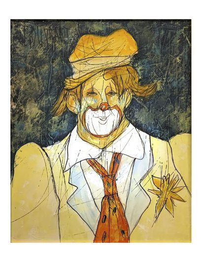 GERARD GOUVRANT (1946-) Le clown à la cravate...