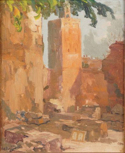 ÉLIE ANATOLE PAVIL (1873-1948) Les remparts...