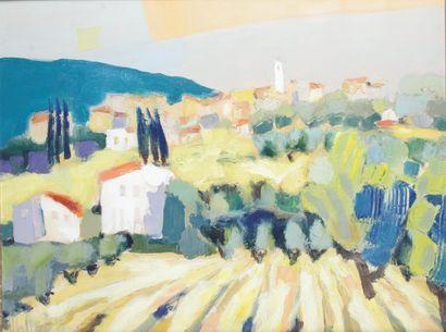 JEAN-PIERRE MALTESE (1946-) Village de l'arrière...