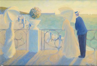 PAUL FRANS (1958-) Couple sur la terrasse...