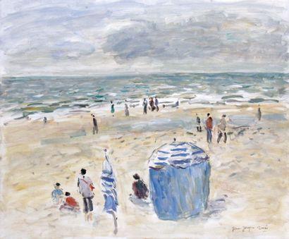 JEAN-JACQUES RENE (1943-) Marée basse à Blonville...