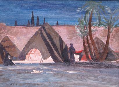 RADKA KOEWA-EHLINGER (1937-) Marrakech, campement...