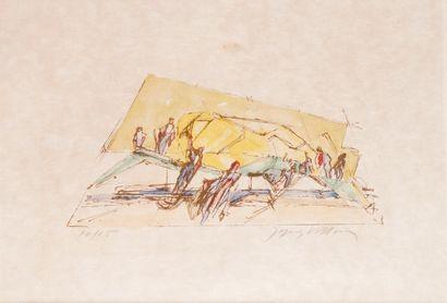 JACQUES VILLON (1875-1963) Personnages Lithographie...
