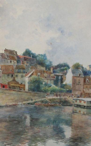 LUIS JIMÉNEZ Y ARANDA (1845-1928) Pontoise,...