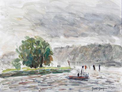 JEAN-JACQUES RENE (1943-) Rouen, le Bassin...