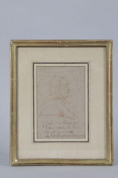 DUVIVIER père 1687/1761 Portait de profile...