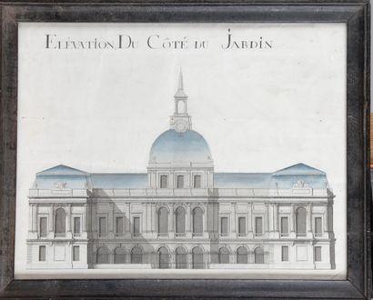 ÉCOLE FRANÇAISE DU XIX SIÈCLE Projet d'architecture...